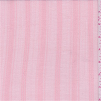 Peachy Pink Stripe Cotton Gauze