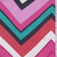 Pink/Orange/Teal Chevron Chiffon
