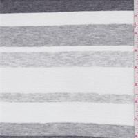 White/Grey Stripe T-Shirt Knit