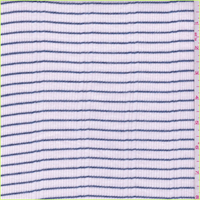 White/Steel Blue Stripe Thermal Knit
