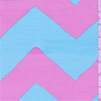ITY Blue/Pink Wave Chevron Jersey Knit