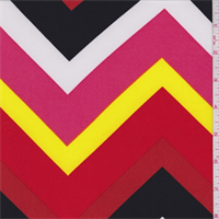 ITY Red Multi Chevron Jersey Knit