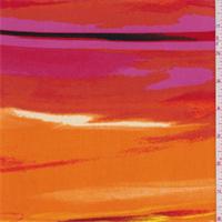 ITY Orange/Red/Pink Stripe Jersey Knit