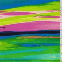 ITY Lime/Pink/Aqua Stripe Jersey Knit