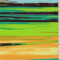 ITY Seafoam/Goldenrod Stripe Jersey Knit