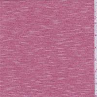 Deep Red/White Micro Stripe Jersey Knit