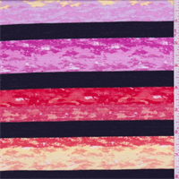 Yellow/Red/Pink Marble Stripe T-Shirt Knit
