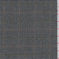 Taupe Glen Plaid Flannel Suiting