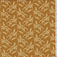 Harvest Orange Wheat Print Cotton