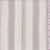 *2 YD PC--Natural/Beige Stripe Linen