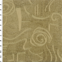 Brown/Beige Chenille Jacquard Home Decorating Fabric
