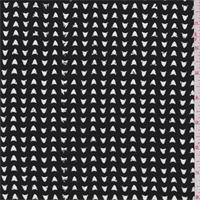 *3 1/2 YD PC--Black Laser Cut Shirting