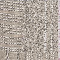 Hazelnut Brown Patchwork Print Silk Crepe de Chine