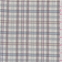 *3 YD PC--Pale Green Plaid Suiting
