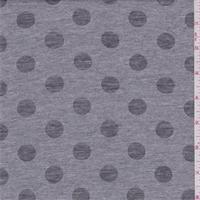 *3 YD PC--Heather Grey Polka Dot Burnout Jersey Knit