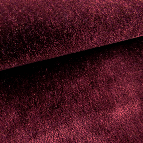 Jb Martin Bordeaux Red Mohair Nevada Velvet Home Decorating Fabric