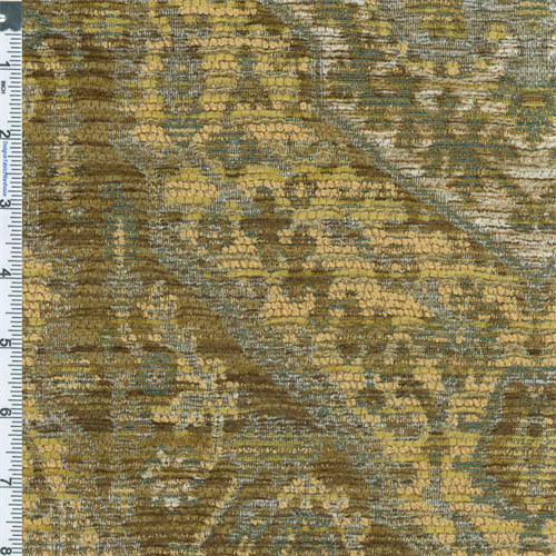 Yellow Teal Treasure Vincenzo Chenille Tapestry Home Decorating