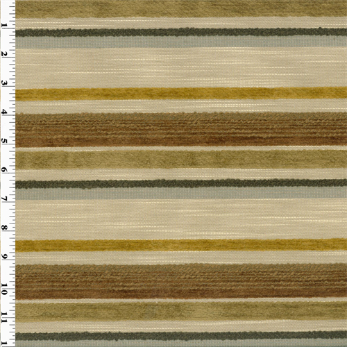 Multicolor Chenille/Boucle Stripe Home Decorating Fabric
