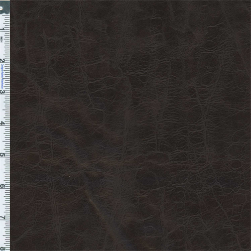 Espresso Brown Designer Faux Leather Upholstery Fabric Dfw50292