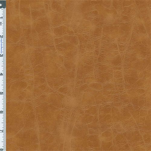 Caramel Brown Designer San Lorenzo Faux Leather Upholstery Fabric