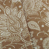 Designer Brown Floral Paisley Print Decorating Fabric