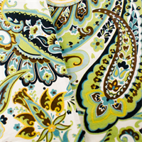 Green/Teal Designer Paisley Print Home Decorating Fabric