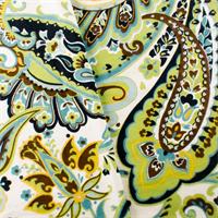 Green/Teal Designer Paisley Print Home Decorating Fabric