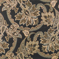 Black/Beige Designer Floral Paisley Decorating Fabric