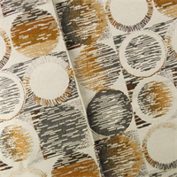 Gray/Brown/Ivory Circle Tile Jacquard Home Decorating Fabric