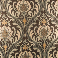 Brown/Teal Quagmire Ogee Jacquard Home Decorating Fabric