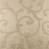 Designer Vellum Beige Beale Embroidered  Decorating Fabric