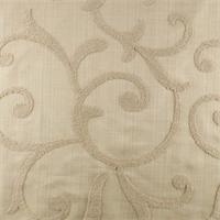 Designer Vellum Beige Beale Embroidered  Decorating Fabric