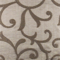 Smoke Brown Beale Embroidered Home Decorating Fabric