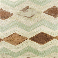 Teal/Brown Chevron Chenille Jacquard Home Decorating Fabric