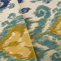 Beige/Teal Designer Sandorby Jacquard Home Decorating Fabric