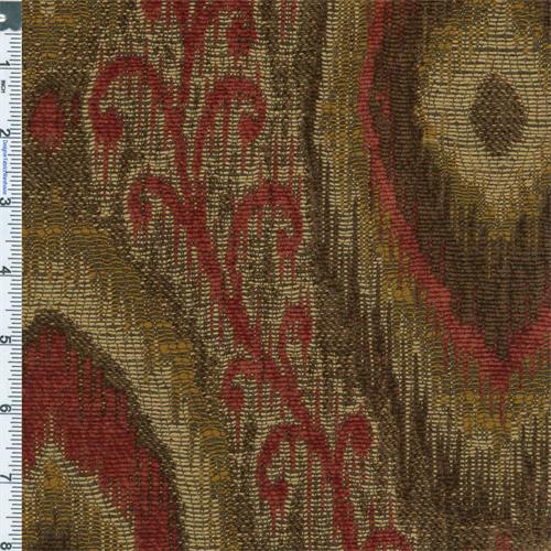 Designer RedBrown Caspian Chenille Home Decorating Fabric Adorable Designer Decorator Fabric