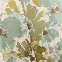 Aqua Teal Blue Monet Floral Jacquard Home Decorating Fabric