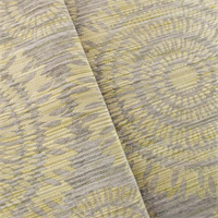 Designer Beige/Gray Chenille Jacquard Decorating Fabric