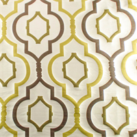 Designer Cream Beige/Green Galatilla Jacquard Home Decorating Fabric