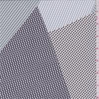 Charcoal/Blue Diamond Patchwork Silk Chiffon