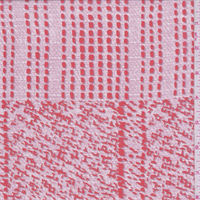 Pink/Poppy Red Patchwork Silk Chiffon