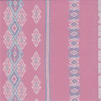 Dark Blush Southwest Stripe Silk Chiffon