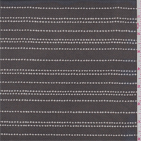 Black/Grey Ball Chain Stripe Silk Chiffon
