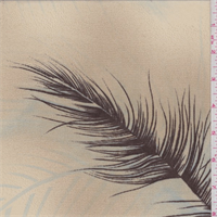 Beige/Brown Feather Print Georgette