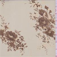 Sand Beige Floral Georgette