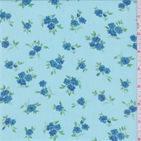 Turquoise Floral Bouquet Georgette