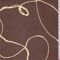 Cinnamon/Cream Scribble Georgette