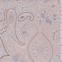 Beige/Powder Blue Paisley Georgette