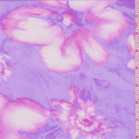 Lilac Purple/Pink Shadow Floral Georgette