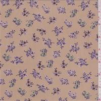 Butterscotch/Purple Mini Floral Georgette